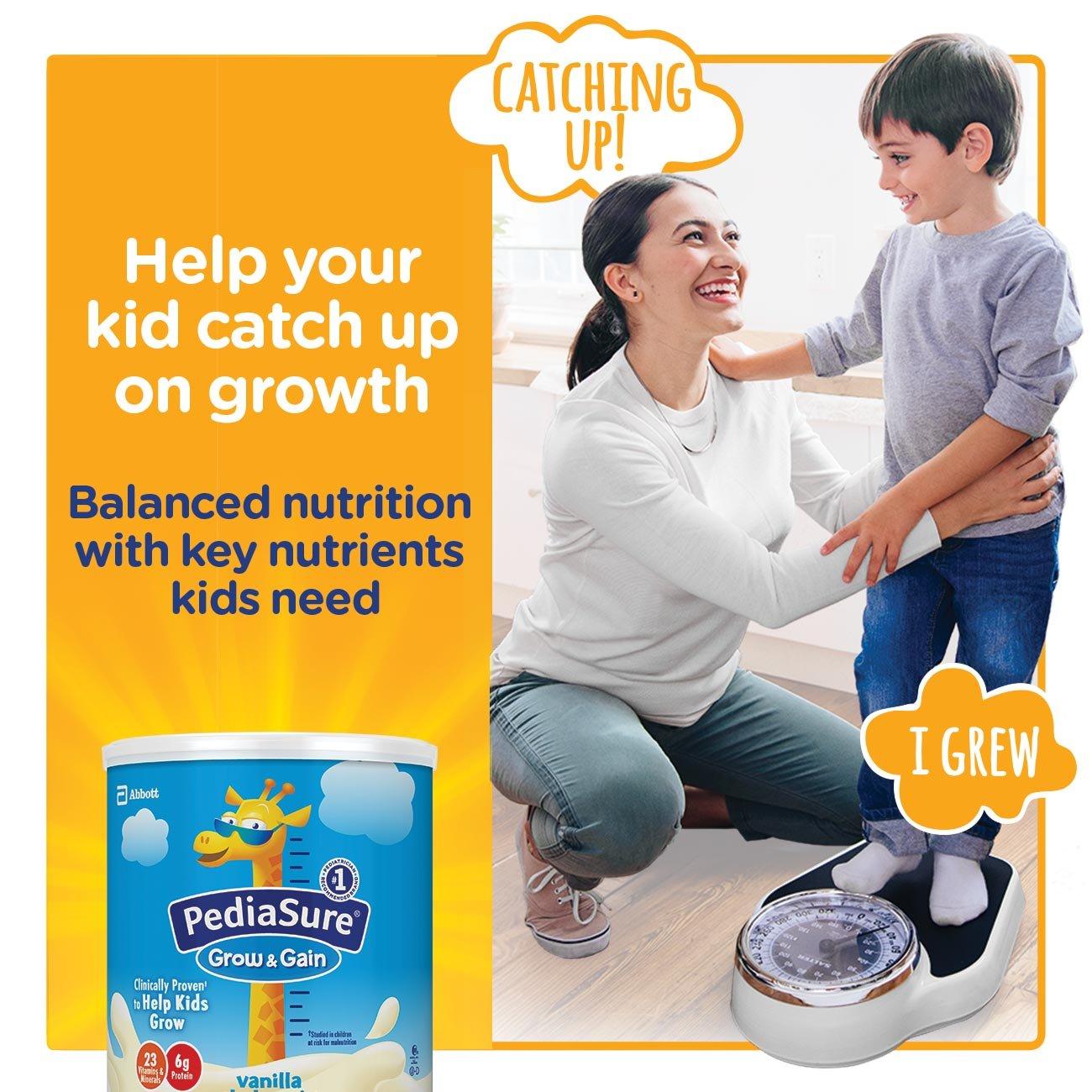 PediaSure Grow & Gain Non-GMO Vanilla Shake Mix Powder, Nutrition Shake for Kids, 14.1 oz, 3 Count by Pediasure (Image #3)