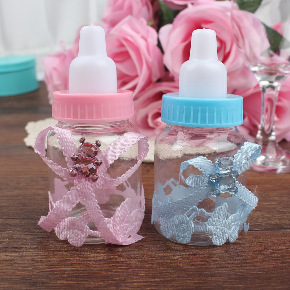 Amazon.com: AerWo Baby Shower Favors Fillable Mini Bottle Candy Gift ...