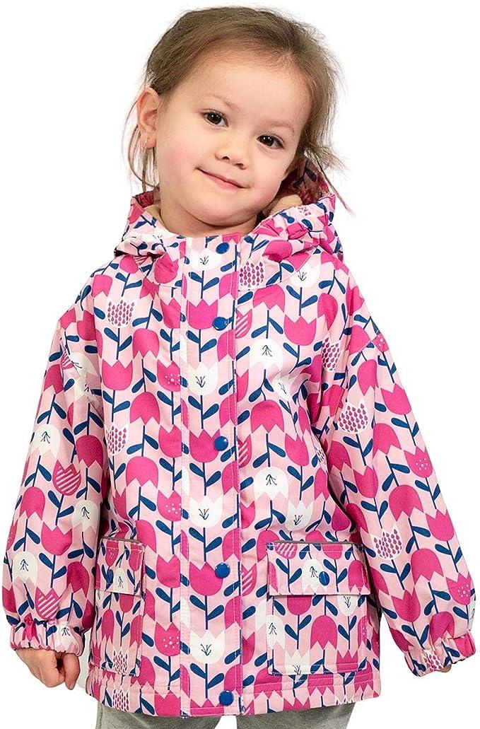 JAN /& JUL Kids/' Rain-Coat CozyDry Fleece-Lined Waterproof Jacket for Boys Girls Toddlers