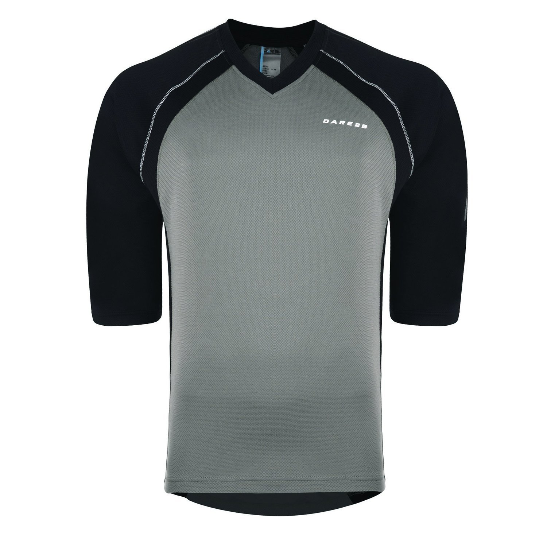 Dare 2b - T-shirt - Maniche a 3/4 - Uomo Dialed in Black/Fiery Red S DMT300