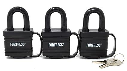 f37c191fc73df Master Lock 1804TRI Fortress Series Covered Laminated Weatherproof Padlocks