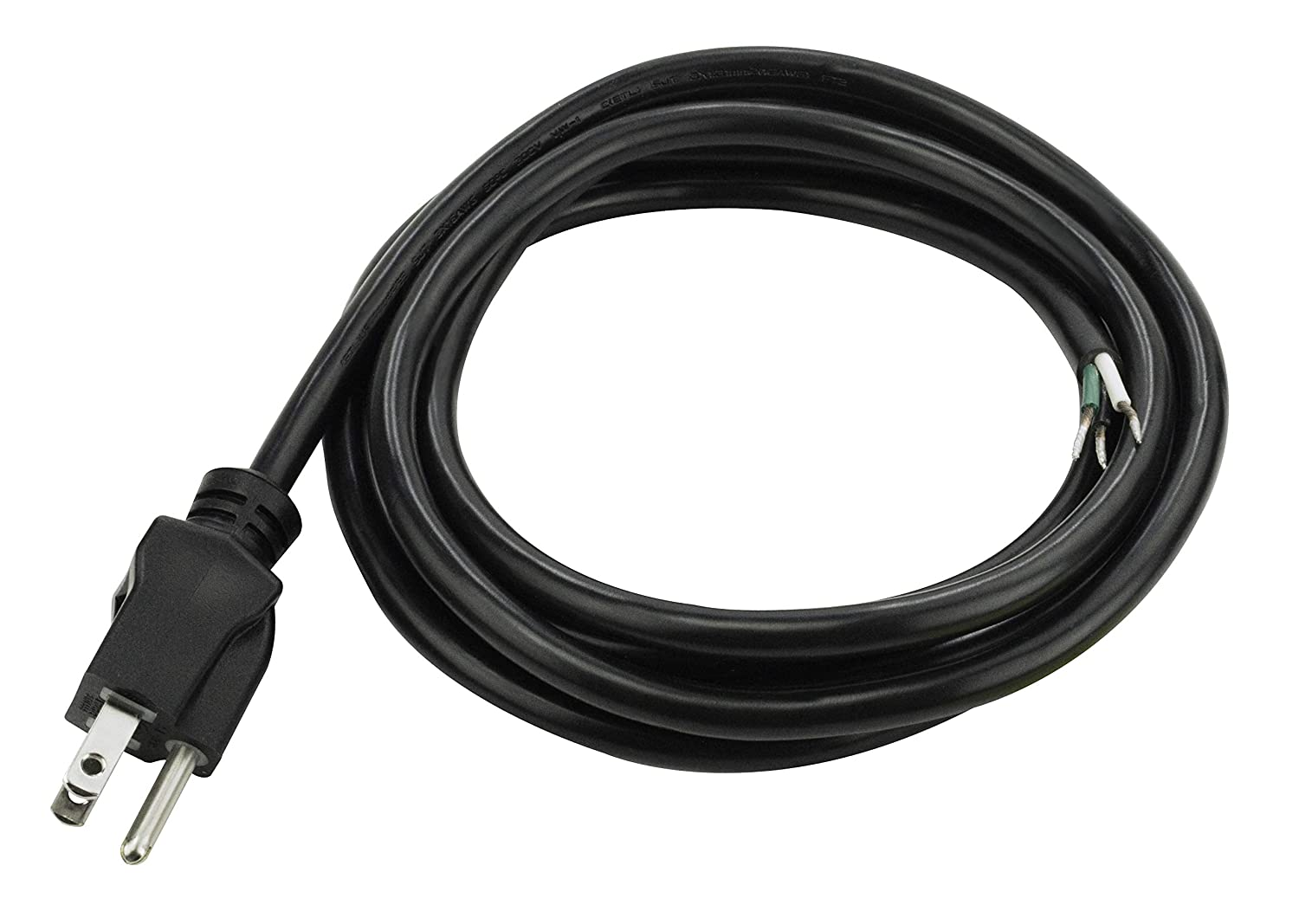Prime PS010608 8-Feet 16/3 SJT Replacement Power Supply Cord, Black