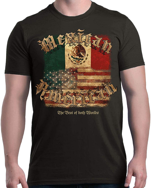 OOworld Mexicano Americano Lo Mejor de Ambos Mundos Camiseta Banderas Camisas: Amazon.es: Ropa y accesorios