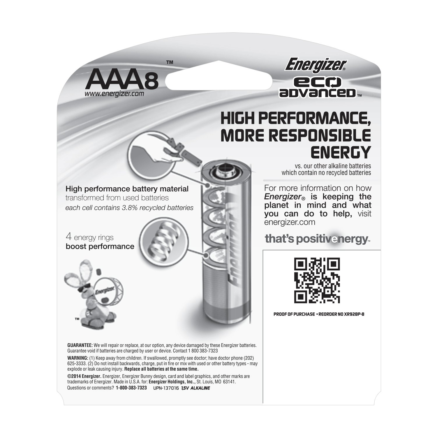 Energizer Ecoadvanced Aaa Batteries Energizers Longest Lasting Alkaline 8 Pack Battery Diagram Of Leaving The Two Health Personal Care