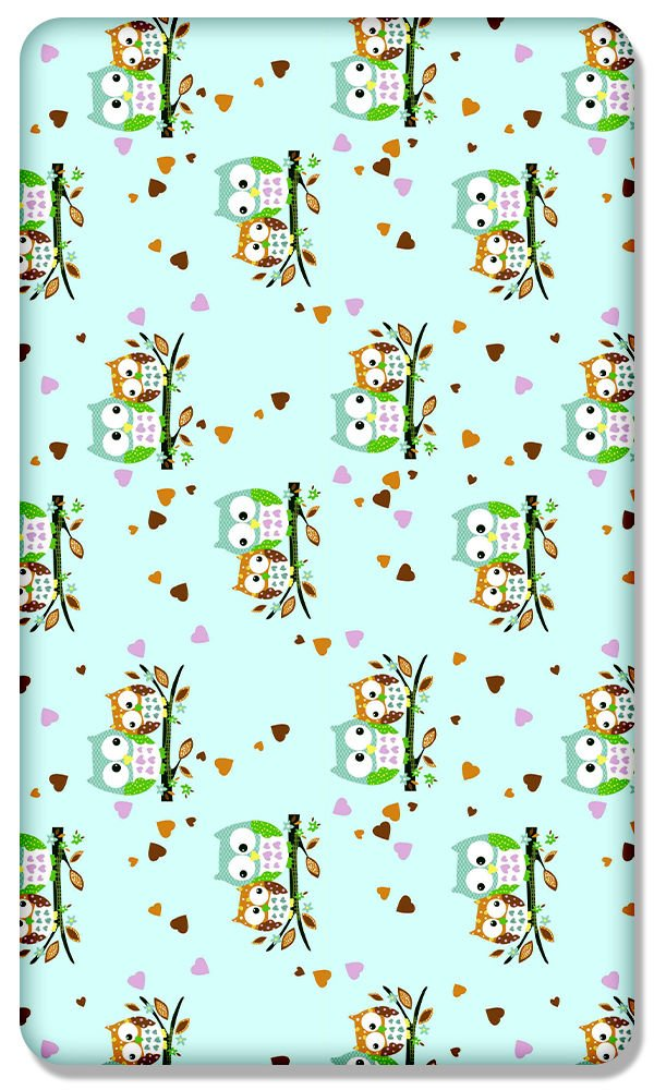 100% COTTON FITTED SHEET WITH PRINTED DESIGN FOR BABY COT 120x60CM (Sheep yellow) Babymam
