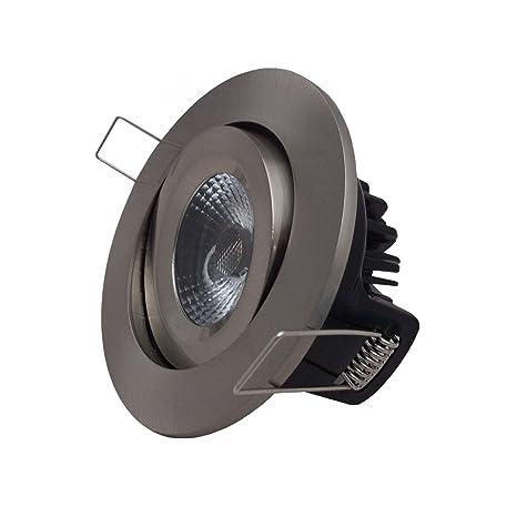 Bombillas LED regulables leyon Elan 8 W de pinchos para mazorcas de foco empotrable para techo