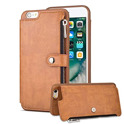wholesale dealer dd7fc 9bf3e Amazon.com: Aearl iPhone 6 Zipper Wallet Case,iPhone 6S Leather Case ...