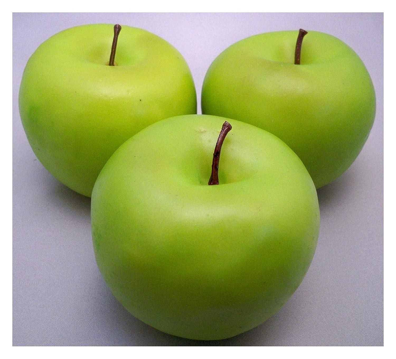 Best Artificial 3 Large Green Apples Decorative Fruit