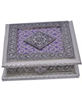 Jai Ambe Wooden Decorative Box (20.3 cm x 20.3 cm x 5 cm)
