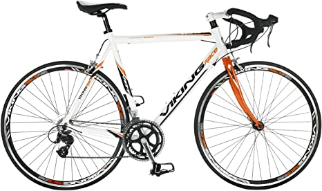 VIKING - Bicicleta de Carretera, Color Blanco, Talla 56 cm: Amazon ...