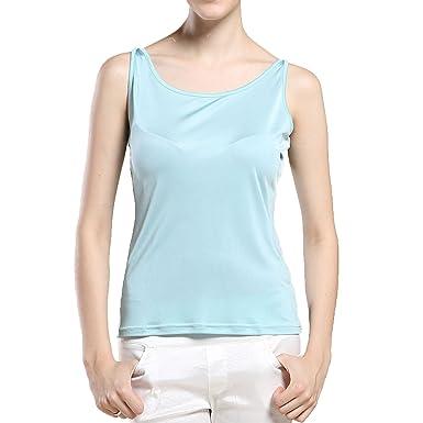 a7fc19bb028a1 Paradise Silk Pure Silk Knit Narrow Shoulder Tank Top at Amazon ...