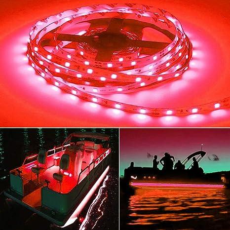 Seapon Pontoon Boat Light, Marine Led Light Strip for Duck Jon Bass Boat  Sailboat Kayak Led Flex Lighting for Boat Deck Light Accent Light Courtesy