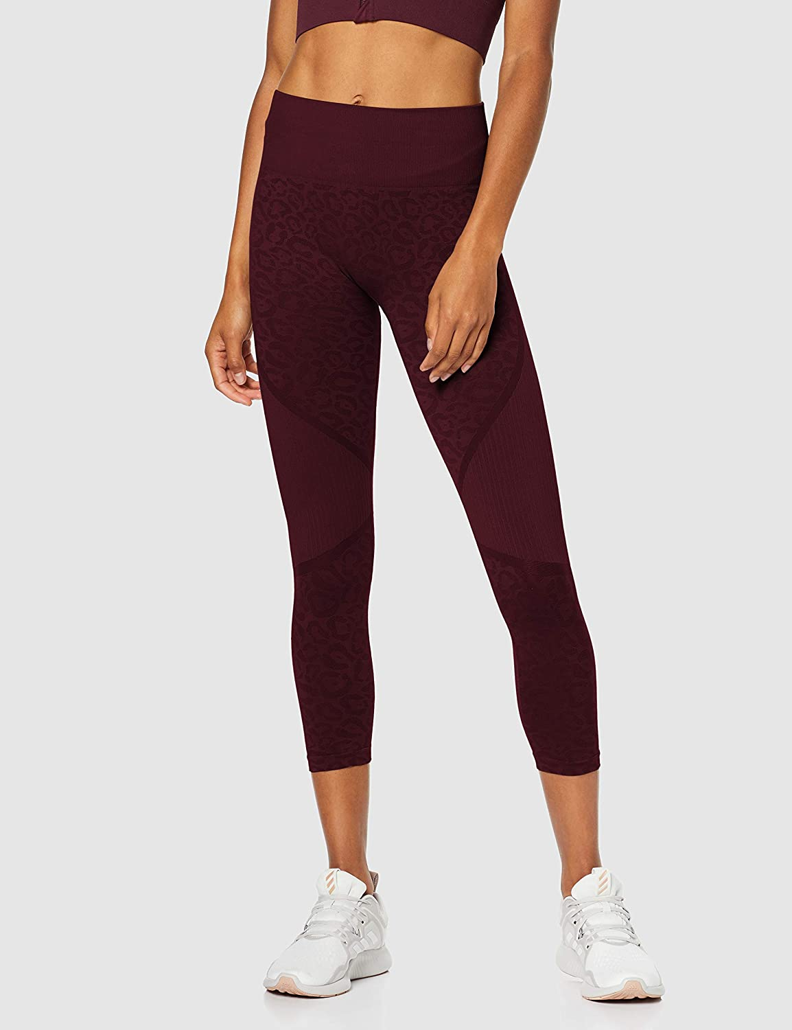 Amazon-Marke: AURIQUE Damen Nahtlose 7/8-Sportleggings