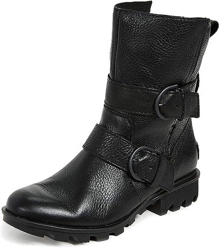 Sorel Phoenix Moto Boots Women Black