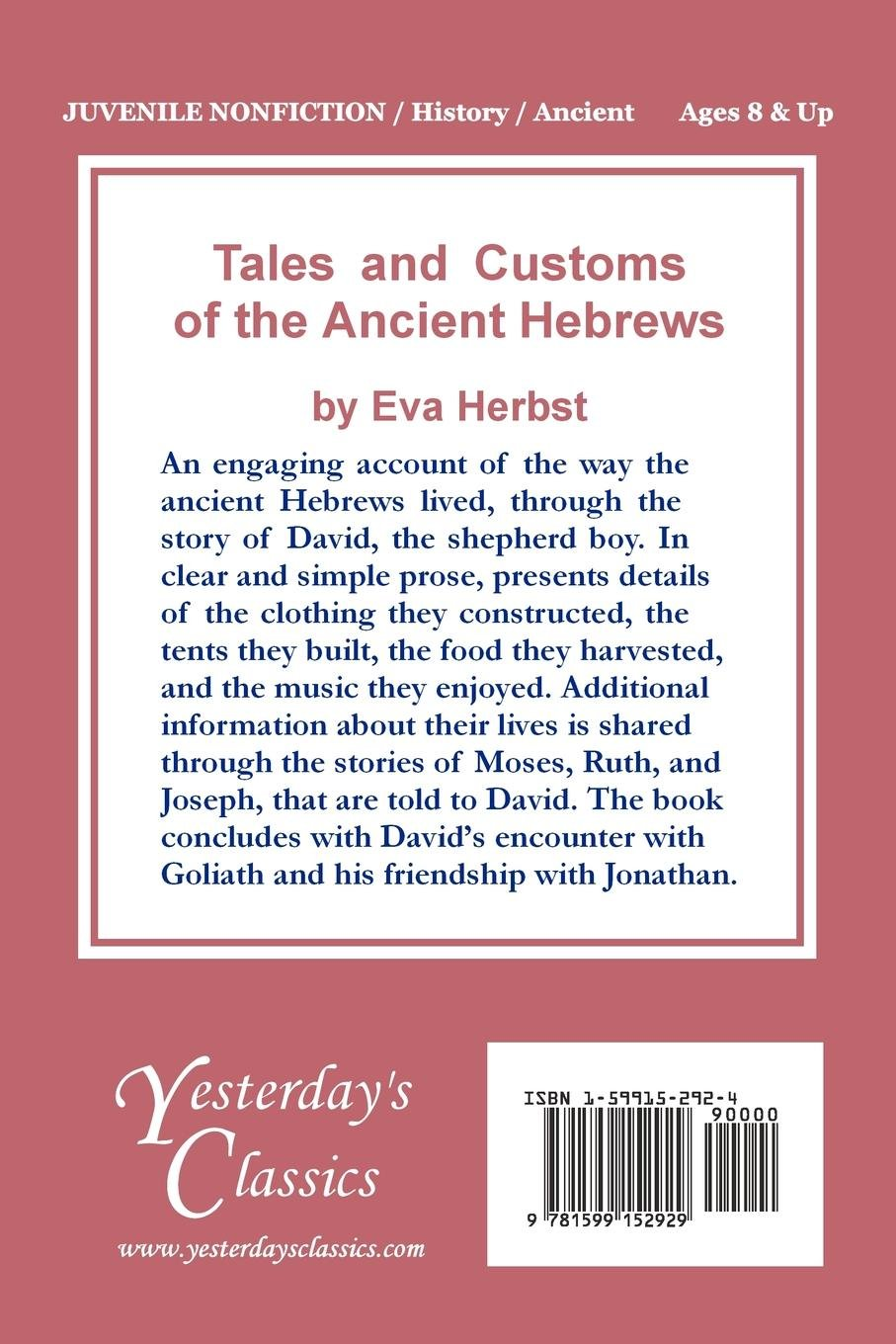 Tales and Customs of the Ancient Hebrews