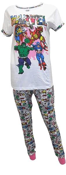 Mujer Marvel Comics Hulk, Thor Camiseta Paquete De Regalo Pijama Tallas Grandes de 8 a