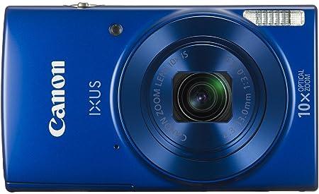 Canon IXUS 190 Digitalkamera (20 Megapixel, 10x optischer Zoom, 6,8 cm (2,7 Zoll) LCD Display, WLAN, NFC, HD Movies) blau