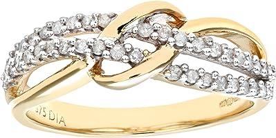 anillo de pedida diamantes en forma de nudo