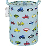 FANKANG Storage Bins, Nursery Hamper Canvas Laundry Basket Foldable with Waterproof PE Coating Large Storage Baskets for Kids