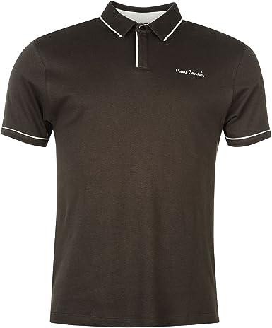 Pierre Cardin – Camisa polo con borde blanco y mangas cortas para hombre – camiseta polo casual