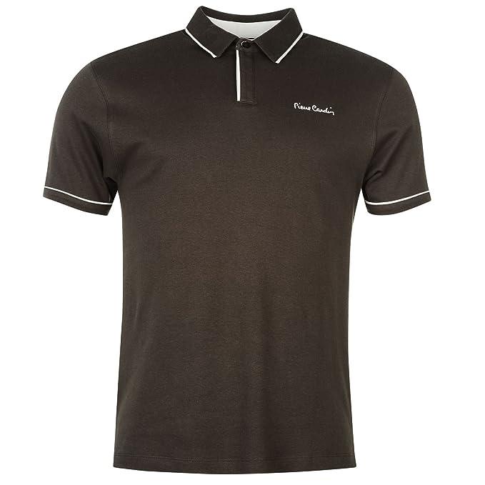 Pierre Cardin – Camisa polo con borde blanco y mangas cortas para ...