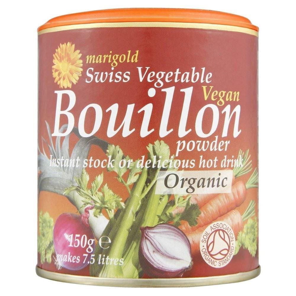 Marigold Swiss Vegetable Vegan Bouillon Powder Organic (150g) Red - Pack of 2