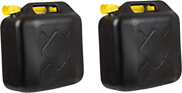 2x Kraftstoffkanister 20l Benzinkanister Diesel Reserve Kanister Für Auto Roller Baumarkt