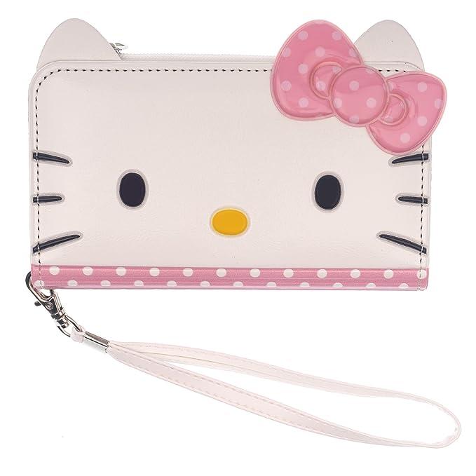 cae5ed026 Amazon.com: iPhone X Case Hello Kitty Cute Diary Flip [ Double Sided ...