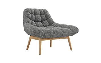 Amazon Com Modern Linen Plush Living Room Lounge Accent Chair