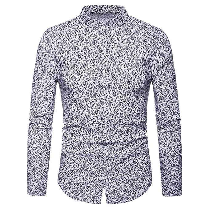 Yvelands Mens Camisa de Vestir de Vestir de Contraste Interior ...