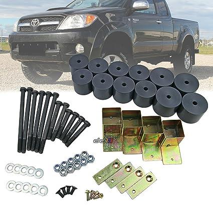 Amazon Com 50mm 2 Inch Body Lift Kit Raising Blocks For Toyota Hilux V 05 14 Dual Cab Automotive
