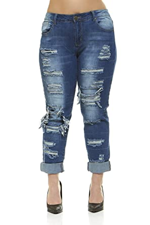 Jeans for Women Distressed Skinny Ripped Jeans Slim Fit Stretchy Medium  Blue Wash Junior Size 1 9cdc7a895c