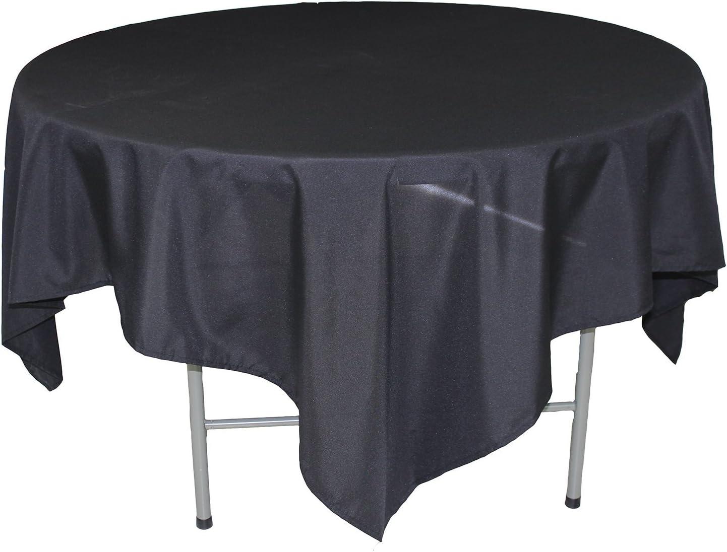 70-inch White KAITATSU SEN Square Polyester Fabric Tablecloth
