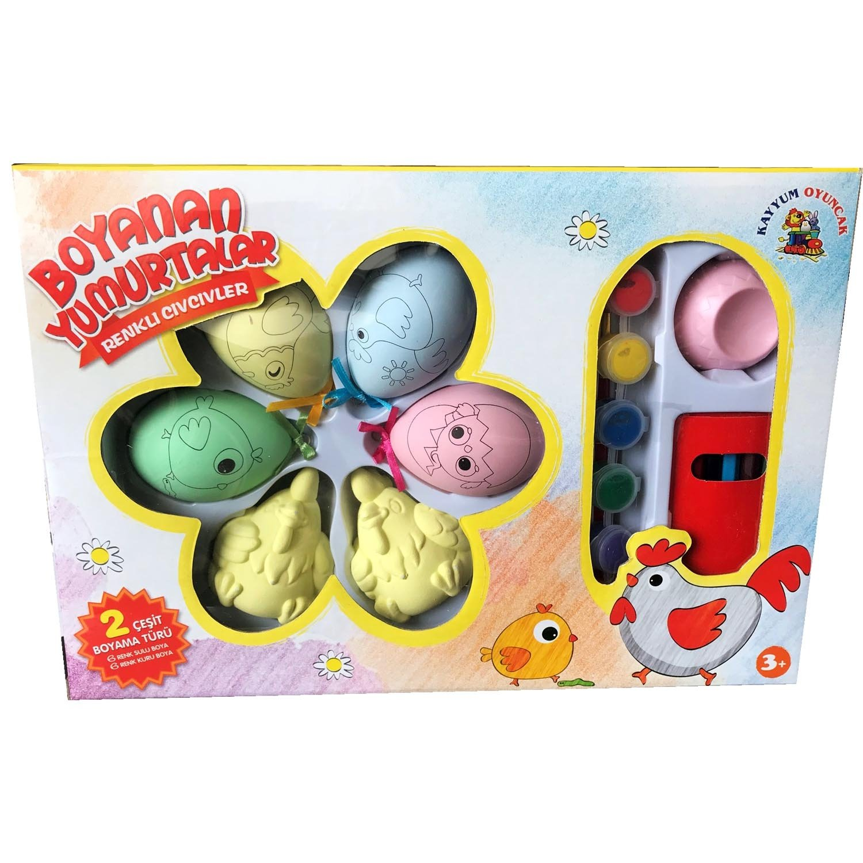 Yumurta Boyama Seti 4 Yumurta 2 Tavuk 12 Boya Amazoncomtr