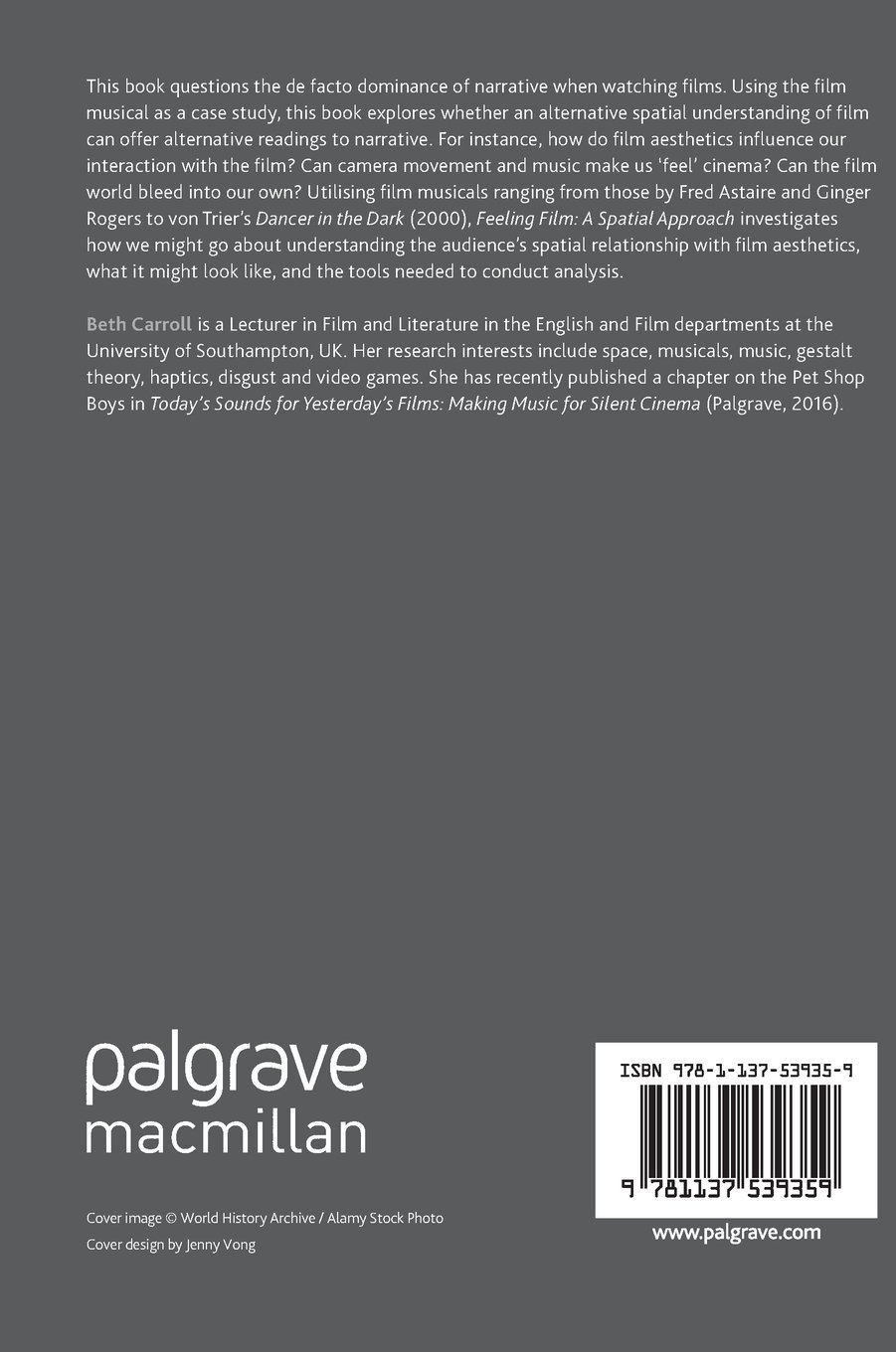 Feeling Film: A Spatial Approach (Palgrave Studies in Audio-Visual Culture) by Palgrave Macmillan