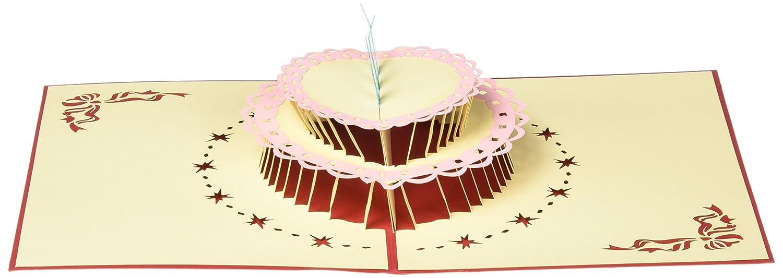 Amazon.com : id-Birthday Cards Papercraft Pop-Up 3D Birthday Cake ...
