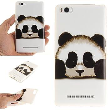 Qiaogle Teléfono Caso - Funda de TPU silicona Carcasa Case Cover para Xiaomi Mi4C / Mi 4I (5.0 Pulgadas) - (TX34 / Cute Panda)