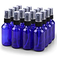 Spray Bottle, Wedama 2oz Fine Mist Glass Spray Bottle, Little Refillable Liquid...