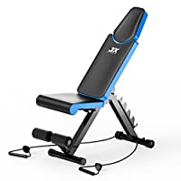 JX FITNESS Adjustable Weight Bench Home Training Gym Weight Lifting & Sit Up Ab Bench Flat Incline Decline Multiuse Exercise Workout Bench