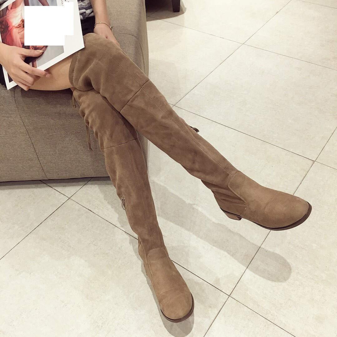 High Heels Knielange Stiefel Elastische Stiefel Stiefel Elastische Herbst - Winter dick und Hohe Stiefel. 54de08