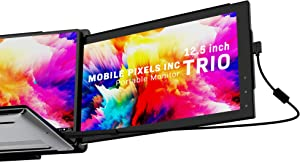 Mobile Pixels Trio Portable Monitor for Laptops, 12.5'' Full HD IPS Screens, USB C/USB A Dual or Triple Displays,Windows/OS/Android/Nintendo Switch