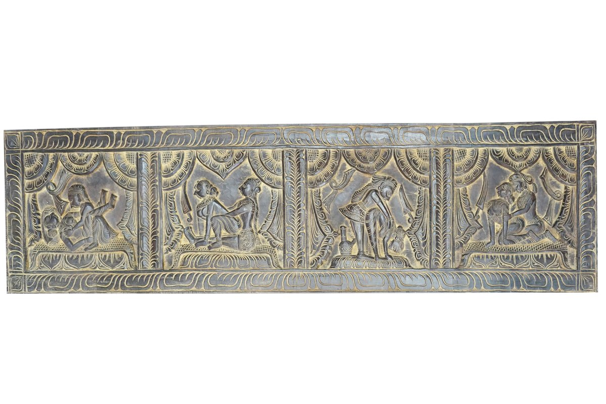 Antique Kamasutra Decorative Hand Carved Headboard Bedroom Decor, Wall Decor