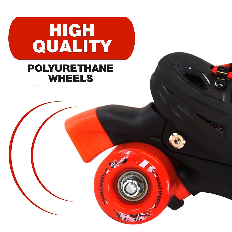 Scale Sports Adjustable Quad Roller Skates for Kids Size 13.5 Junior to 9 Adult