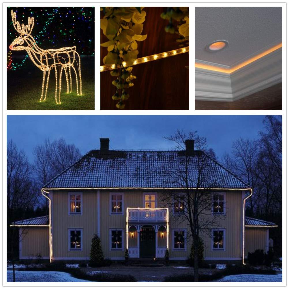Lichterschlauch Au/ßen GREEMPIRE 336 LEDs 20M Lichterkette au/ßen strombetrieben mit Fernbedienung Lichtschl/äuche Wasserdicht f/ür Outdoor Balkon Weihnachtsbaum Innen Dekoration Weihnachten Warmwei/ß