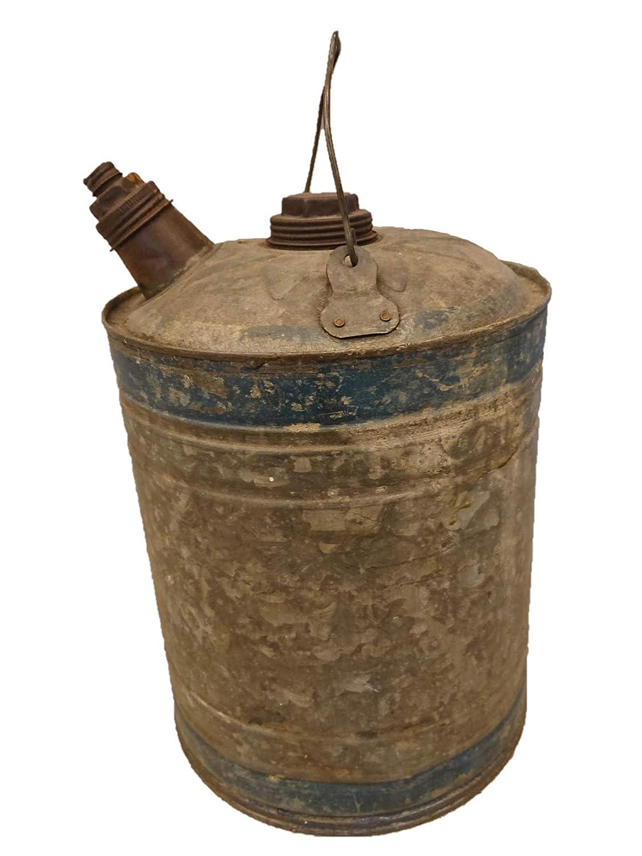 イギリス アンティーク ブリキオイル缶 B07SPS1XLF