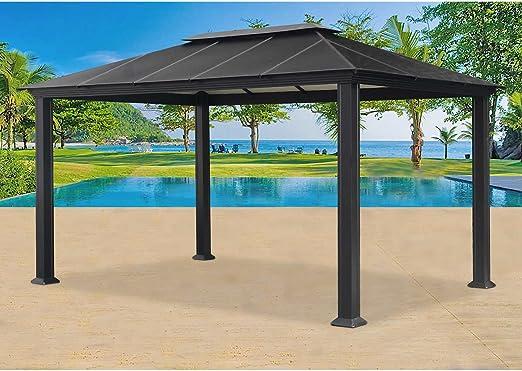 Santa Monica 11 x 13 pies Gazebo de aluminio: Amazon.es: Jardín