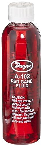 Amazon.com: Dwyer A-102 Gauge Fluid, Red, 4 Oz Bottle, 0.826 sp. gr.: Industrial & Scientific
