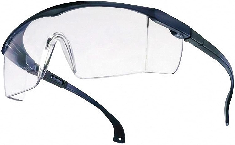 Basic EN166 - Gafas de protección, de laboratorio, transparentes, color azul
