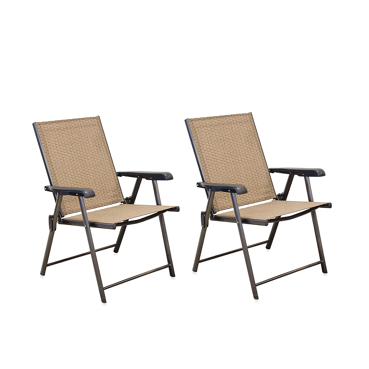 Amazon.com: Hawthorne Outdoor Pool Folding Sling Chairs (Red): Garden U0026  Outdoor
