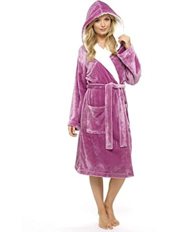 25421de0f4 CityComfort Luxury Ladies Dressing Gown Soft Plush Bath Robe for Women  Housecoat Loungewear Bathrobe
